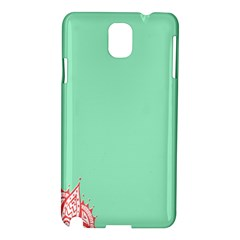 Flower Floral Green Samsung Galaxy Note 3 N9005 Hardshell Case