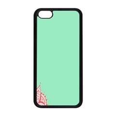 Flower Floral Green Apple iPhone 5C Seamless Case (Black)