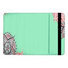 Flower Floral Green Samsung Galaxy Tab Pro 10.1  Flip Case