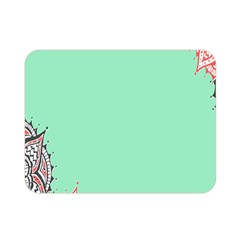 Flower Floral Green Double Sided Flano Blanket (Mini)