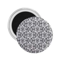 Flower Rose Black Triangle 2.25  Magnets