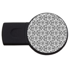 Flower Rose Black Triangle USB Flash Drive Round (4 GB)
