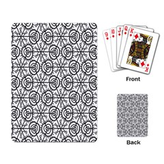 Flower Rose Black Triangle Playing Card