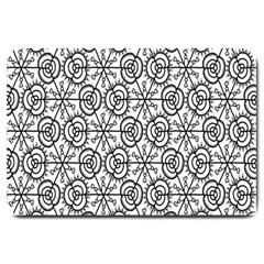 Flower Rose Black Triangle Large Doormat