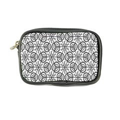 Flower Rose Black Triangle Coin Purse