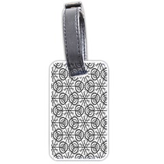 Flower Rose Black Triangle Luggage Tags (Two Sides)