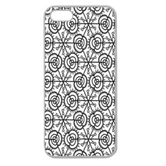 Flower Rose Black Triangle Apple Seamless iPhone 5 Case (Clear)