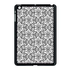 Flower Rose Black Triangle Apple iPad Mini Case (Black)