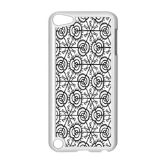Flower Rose Black Triangle Apple iPod Touch 5 Case (White)