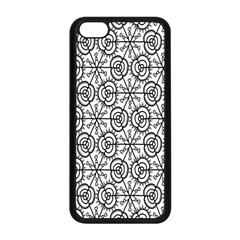 Flower Rose Black Triangle Apple iPhone 5C Seamless Case (Black)