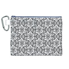 Flower Rose Black Triangle Canvas Cosmetic Bag (XL)