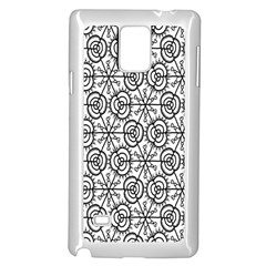 Flower Rose Black Triangle Samsung Galaxy Note 4 Case (White)