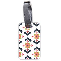 Flower Rose Floral Purple Pink Green Leaf Luggage Tags (Two Sides)