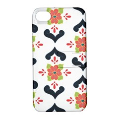 Flower Rose Floral Purple Pink Green Leaf Apple iPhone 4/4S Hardshell Case with Stand