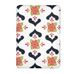 Flower Rose Floral Purple Pink Green Leaf Samsung Galaxy Tab 2 (10.1 ) P5100 Hardshell Case