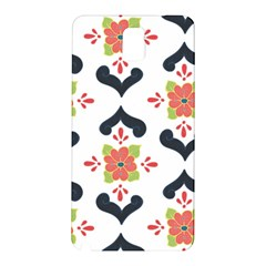 Flower Rose Floral Purple Pink Green Leaf Samsung Galaxy Note 3 N9005 Hardshell Back Case