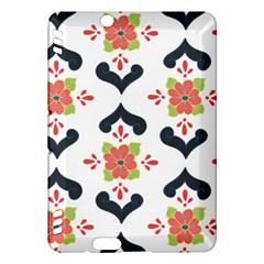 Flower Rose Floral Purple Pink Green Leaf Kindle Fire HDX Hardshell Case