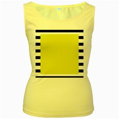 Fun Little Green Wave Women s Yellow Tank Top