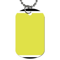 Fun Little Green Wave Dog Tag (One Side)
