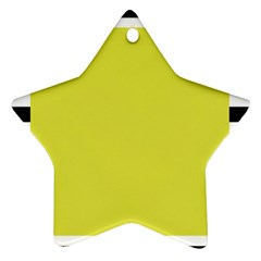 Fun Little Green Wave Star Ornament (Two Sides)