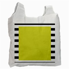 Fun Little Green Wave Recycle Bag (One Side)