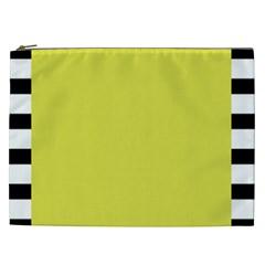 Fun Little Green Wave Cosmetic Bag (XXL)