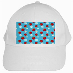 Fruit Red Apple Flower Floral Blue White Cap