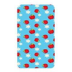 Fruit Red Apple Flower Floral Blue Memory Card Reader