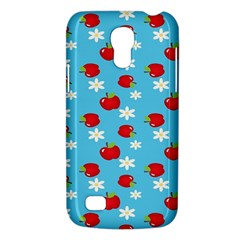 Fruit Red Apple Flower Floral Blue Galaxy S4 Mini