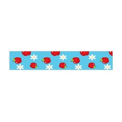 Fruit Red Apple Flower Floral Blue Flano Scarf (Mini)