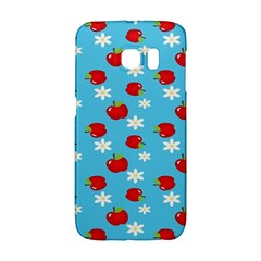 Fruit Red Apple Flower Floral Blue Galaxy S6 Edge
