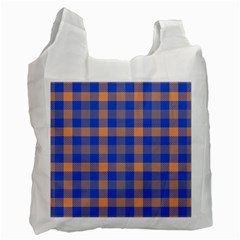 Fabric Colour Blue Orange Recycle Bag (One Side)