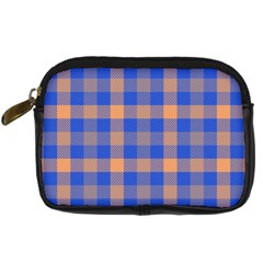 Fabric Colour Blue Orange Digital Camera Cases