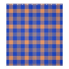 Fabric Colour Blue Orange Shower Curtain 66  x 72  (Large)