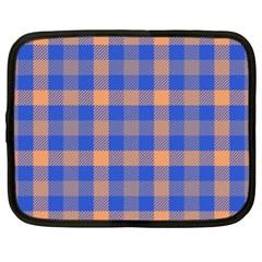 Fabric Colour Blue Orange Netbook Case (XL)