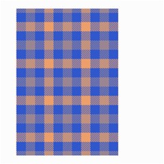 Fabric Colour Blue Orange Small Garden Flag (Two Sides)