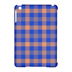 Fabric Colour Blue Orange Apple iPad Mini Hardshell Case (Compatible with Smart Cover)