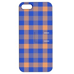 Fabric Colour Blue Orange Apple iPhone 5 Hardshell Case with Stand