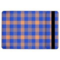 Fabric Colour Blue Orange iPad Air Flip