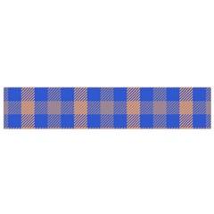 Fabric Colour Blue Orange Flano Scarf (Small)