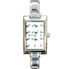 Flying Dragonfly Rectangle Italian Charm Watch