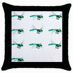 Flying Dragonfly Throw Pillow Case (Black)