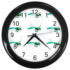 Flying Dragonfly Wall Clocks (Black)