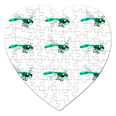 Flying Dragonfly Jigsaw Puzzle (Heart)