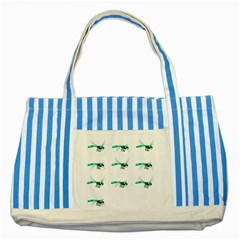 Flying Dragonfly Striped Blue Tote Bag