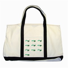 Flying Dragonfly Two Tone Tote Bag