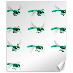 Flying Dragonfly Canvas 8  x 10
