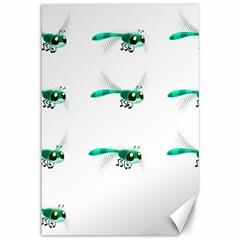 Flying Dragonfly Canvas 12  x 18