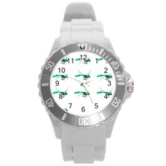 Flying Dragonfly Round Plastic Sport Watch (L)