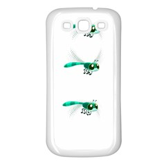 Flying Dragonfly Samsung Galaxy S3 Back Case (White)